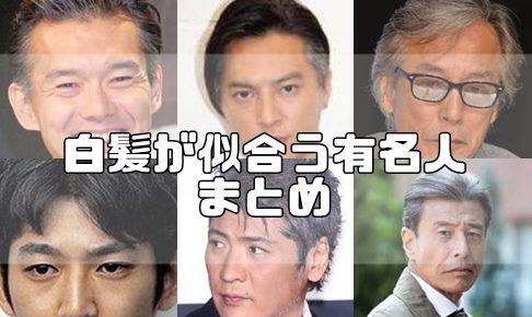 白髪 芸能人 男性 日本人