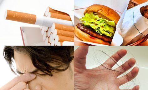 生活習慣による影響