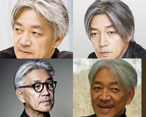 白髪が似合うかっこいい芸能人・坂本龍一